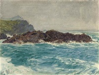 the cornish coast by william holman hunt