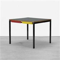 table from la chambres d'étudiant del la maison du brésil, cité internationale universitaire de paris by charlotte perriand