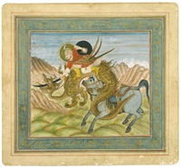 rustam slaying the dragon by anonymous-indian-mughal (19)