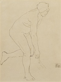 nude sketch by rupert bunny