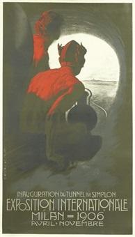 exposition internationale milan by leopoldo metlicovitz