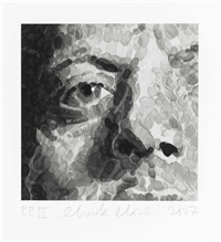 untitled (phil) by chuck close