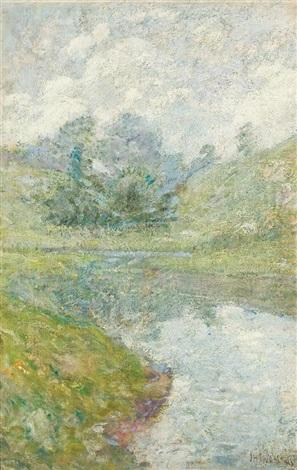 landscape, connecticut by john henry twachtman