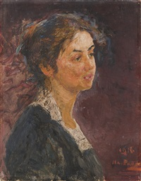 portrait of a young girl by il'ya repin