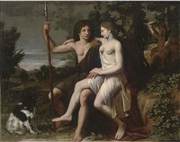 venus and adonis by charles alphonse dufresnoy