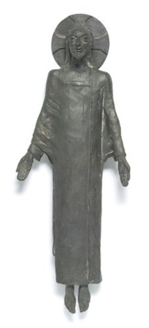 maquette for christ in majesty by sir jacob epstein
