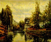 el sauce y el canal (estrasburgo) by antonio iglesias sanz