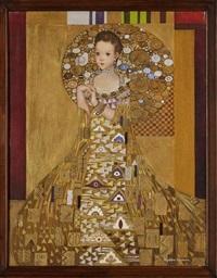 niña (manera de retrato de adele bloch-bauer de gustav klimt) by alejandro camarena