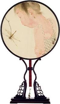 蜻蜓少女 宫扇 by liu qinghe