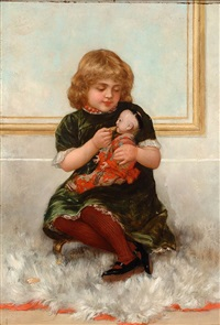 tea time with the doll by louis albert roessingh