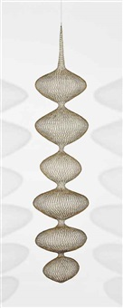 untitled (s.608, hanging six-lobed single-layer continuous form within a form) by ruth asawa