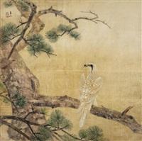 枝上白鷹 (the white eagle) by lin yushan