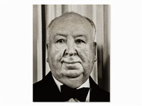 alfred hitchcock at the academy awards, usa by ron galella