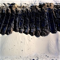 ashdod sand wall (from the series ashdod south) by amihai melki