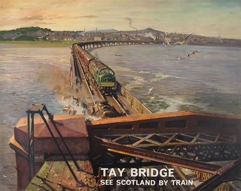 tay bridge by terence cuneo