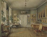 das musikzimmer von fanny hensel, geb. mendelssohn bartholdy by julius edward w. helfft