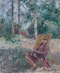lecture dans le parc by paule gobillard