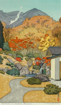 autumn in the hakone museum by toshi yoshida