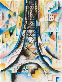 the eiffel tower by gösta (gan) adrian-nilsson