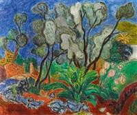 olivenbäume auf ischia by hans purrmann