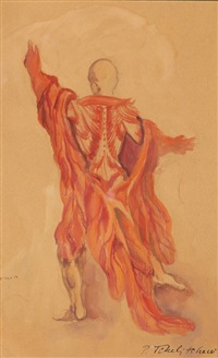 costume design for balanchine ballet the cave of sleep by pavel tchelitchew