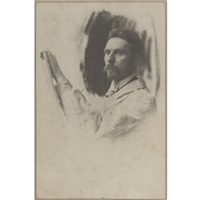 portrait of a painter by pierre dubreuil