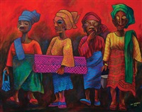 yoruba women (on festive day) by joe amenechi