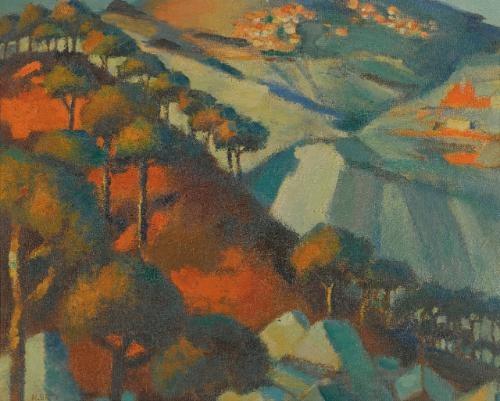 coucher de soleil vers le saanin (liban) (sunset at saanin) by mahmud said