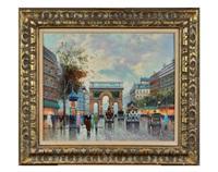 untitled, parisian street scene by antoine blanchard