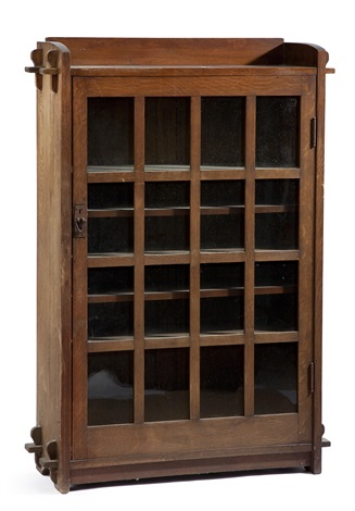 single door bookcase by gustav stickley