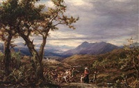 travellers in procession by james thomas linnell