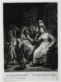 das sehen (das mädchen mit der kerze), pl.1 (after dusart, from die fünf sinne) by jacob gole
