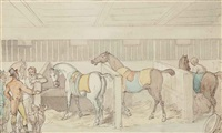 inspecting the mounts by thomas rowlandson