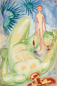 david and goliat by nils von dardel