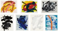 untitled (set of 7 works) by kazuo shiraga