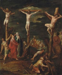the crucifixion with the two thieves by jan snellinck the elder