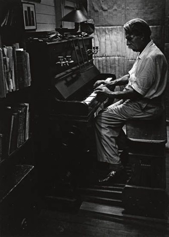 albert schweitzer at an organ man of mercy by w eugene smith