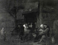 peasants drinking in a tavern by daniel boone