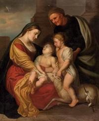 maria mit jesuskind, johannesknaben und elisabeth by v. renati