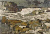 taos canyon in winter by ernest leonard blumenschein