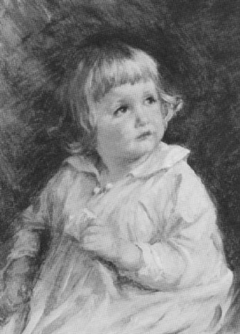 little girl in white by lydia field emmet