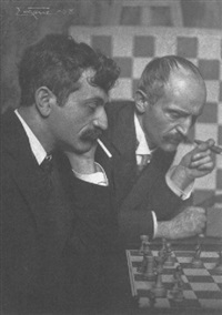 the chess players, dr. emanuel lakser and his brother by frank eugene smith