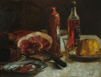 still life with ham and schnapps by max slevogt