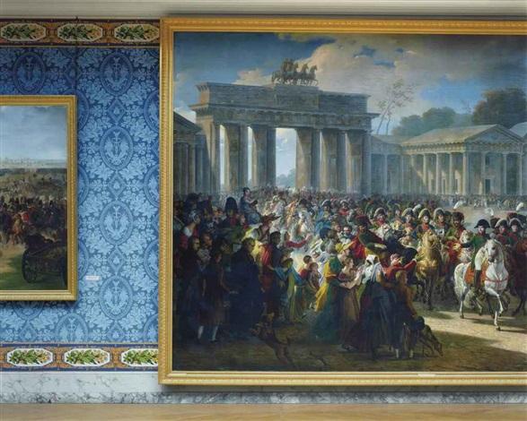 entrée de napoléon à berlin by charles meynier 1810 attique du midi aile du midi attique château de versailles by robert polidori