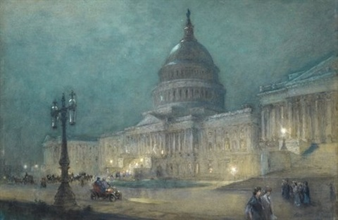 the capitol at washington (night) by colin campbell cooper