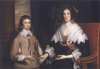portrait of a lady and her son by edward bower