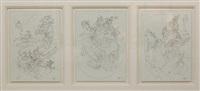 dessins (triptych) by alain le yaouanc