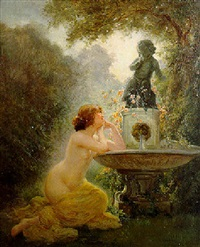 a la fontaine by albert auguste fourié