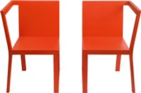 ji - ch 02 red twin chair (set of 2) by mvw (co.)