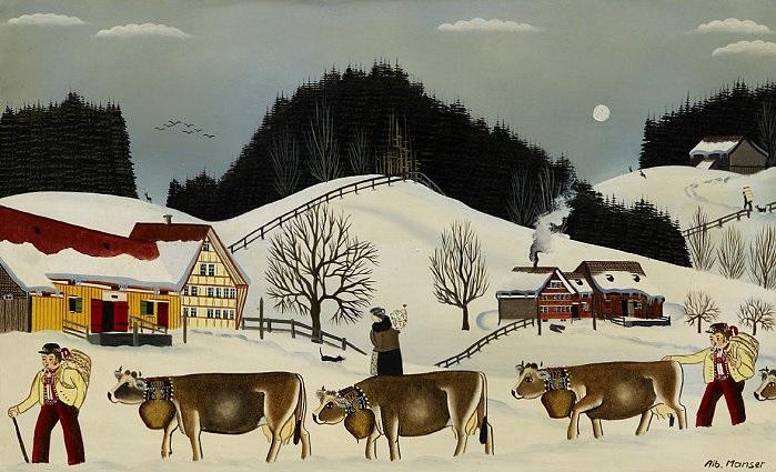 öberefahre im winter by albert manser